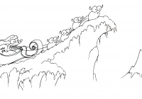 Llama Christmas Coloring Pages With An Alligator In A Sleigh Bluebison Net