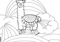 Llama Christmas Coloring Pages With Llamacorn Page PDF Printable Art Parties Pinterest