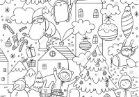 Merry Christmas And Happy New Year Coloring Pages With Vector Stock Royalty Free