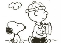 Merry Christmas Charlie Brown Coloring Pages With Free Printable For Kids