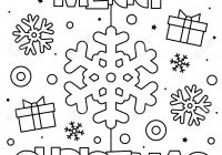 Merry Christmas. Coloring Page. Black And White Vector Illustration ..