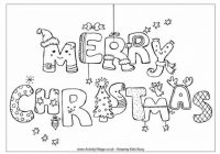 Merry Christmas Coloring Pages 19 – Free Coloring Sheets – Free Christmas Colouring Pages Uk