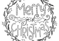 Merry Christmas Colouring In Pages With Coloring For Adults Collection Free
