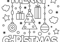 Merry Christmas Colouring In Pages With Coloring Page Vector Image On VectorStock
