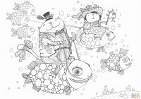 Merry Christmas Colouring Pages With Reindeer 28 Collection Of Santa And