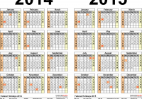 Military Fiscal Year 2019 Calendar With 2014 2015 Free Printable Two Excel Calendars