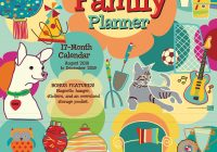 Mom S Busy Year Calendar 2019 With Family 18 Month Wall Planner 12 X CP 0486