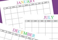 Mom S Busy Year Calendar 2019 With Free Printable Blank Monthly Calendars 2018 2020 2021