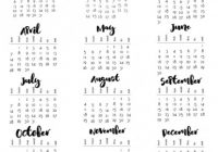 Musings of an Average Mom: 18 Year at a Glance – 2019 Year Calendar One Page