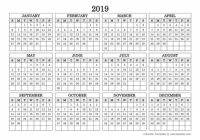 New 17 Yearly Calendar Printable Landscape | Free Printable ..