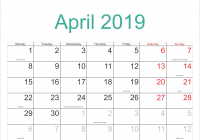 Next Year Calendar 2019 Sri Lanka With April Holidays Format Example