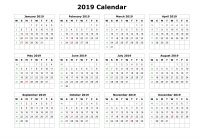 One Year Calendar 2019 Printable With Get Yearly UAE Dubai Holidays Download