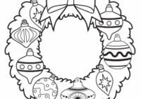 Ornament Wreath Coloring Page – Free Christmas Recipes, Coloring ..