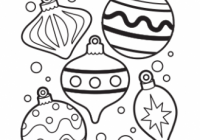 Ornaments Coloring Page – Free Christmas Recipes, Coloring Pages for ..