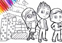PJ Masks Amaya Conor Greg Christmas coloring pages | how to draw pj ..
