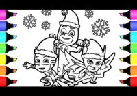 Pj Masks Christmas Coloring Pages I fun colouring for children – YouTube – Christmas Coloring Masks