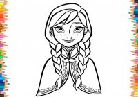 Princess Anna Coloring Pages Disney Frozen Coloring Book For ..