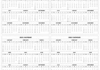 Printable 3 Year Calendar 2019 To 2021 With 2020 2022 Template 4 Four