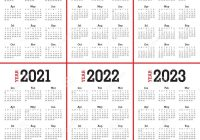 Printable 3 Year Calendar 2019 To 2021 With Free 5 Blank PDF Template April 2018