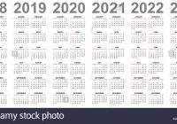 Printable 3 Year Calendar 2019 To 2021 With Simple Stock Photos