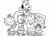 Printable Charlie Brown Christmas Coloring Pages With Thanksgiving Snoopy Page New