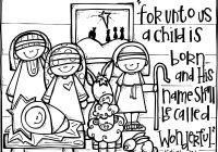 Printable Christmas Coloring Pages Nativity Scene With Christian Activities FREE Page From