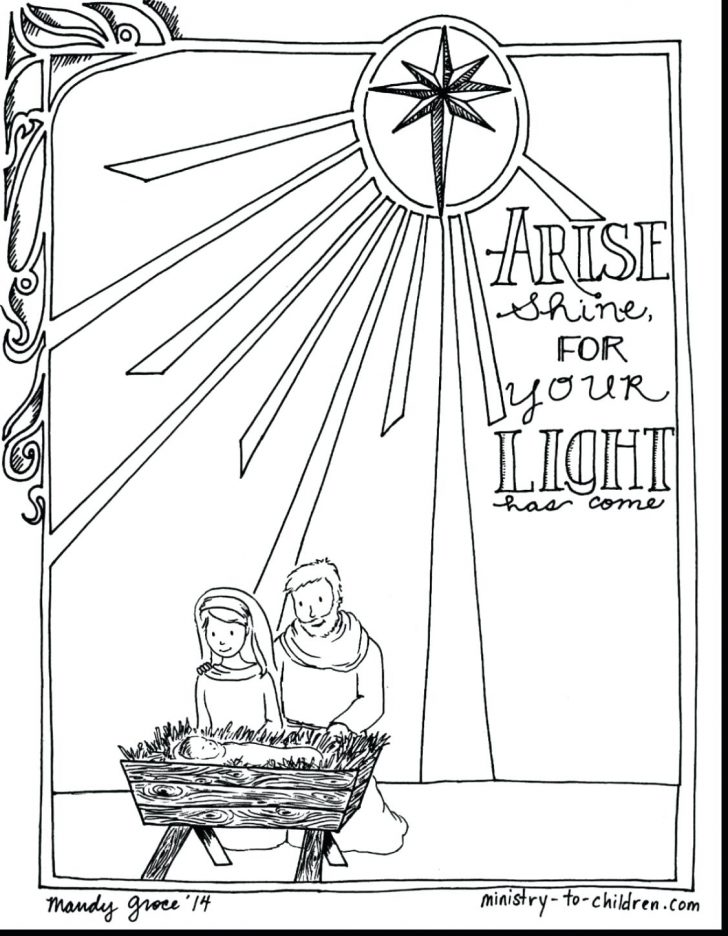 Permalink to Printable Christmas Coloring Pages Nativity Scene