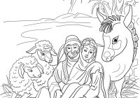 Printable Christmas Coloring Pages Nativity Scene With Manger