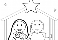 Printable Christmas Coloring Pages Nativity Scene With Page Free