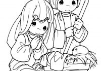 Printable Christmas Jesus Coloring Pages With COLORING PAGES Nativity Precious Moments Color