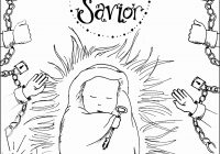 Printable Christmas Jesus Coloring Pages With Free Baby Best Of