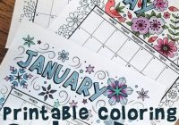 Printable Coloring Calendar for 17 (and 17!)   Household Planner ..