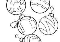 Printable Coloring Pages Christmas Decorations With Awesome Ornaments Collection