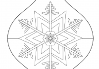 Printable Coloring Pages Christmas Decorations With Ornament Page Free