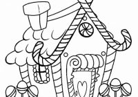 Printable Gingerbread House Coloring Pages For Kids   Cool13bKids – Christmas Coloring Gingerbread House