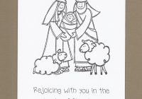 Religious Christmas Card Coloring Pages With Pictures To Color Free Printable