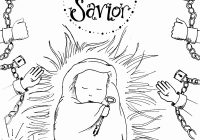 Religious Christmas Coloring Pages Jesus With Christian Cool