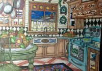 Romantic Country Colored pencils/gel pens   Romantic Country ..
