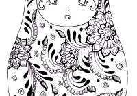 Russian Christmas Coloring Pages With Free Page Dolls 3 Babushka S
