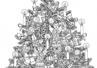 Russian Christmas Coloring Pages With Fresh Tree Ornaments