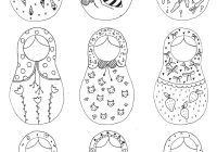 Russian Christmas Coloring Pages With Nesting Dolls Page PAPER TOYS Pinterest