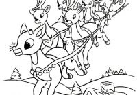 Santa And Reindeer Coloring Pictures With Laughing For Happiness Claus Pages 2