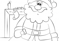 Santa Around The World Coloring Pages With Sack Page Free Printable