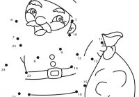 Santa Bag Coloring Page With Claus Sack Pages Hellokids Com