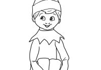 Santa Bag Coloring Page With Girl Elf On The Shelf Pages You Might Also Be Interested