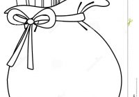 Santa Bag Coloring Page With Sack Of Toys Background Stock Photos Image 7360233