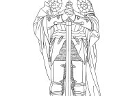 Santa Barbara Mission Coloring Page With St Joan Of Arc Free Hand Drawn Catholic Pictures Hope