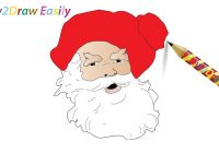 Santa Beard Coloring Page With How To Draw Claus Face Step By Drawing
