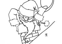 Santa Chimney Coloring Page With Gets Stuck In The Pages Hellokids Com