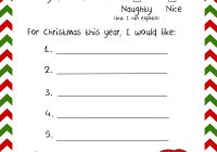 Santa Christmas List Coloring Page With 20 Letters To And Printable Envelopes Wishes